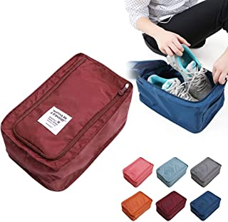 OahDaTi- multifunction travel storage bag nylon 6 colors portable organizer bags shoe sorting pouch storage r compartment organizer portable hanger shoes travel