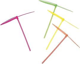 Fun Express Fettipop 12 pc Plastic Dragonfly Assortement, Yellow/Green/Orange