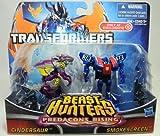 Transformers Beast Hunters Predacons Rising Cindersaur and Smokescreen 2 pack...