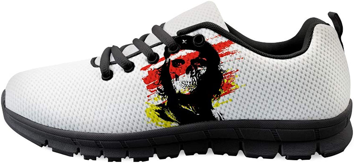 Owaheson Lace-up Sneaker Training shoes Mens Womens Skull Communist Fighter Che Guevara
