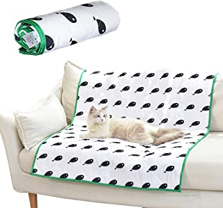 FUKUMARU Pet Waterproof Blanket, Pets Washable Mat Cover for Bed Couch Sofa,Reusable Pee Pad Furniture Protector