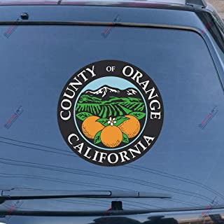 3S MOTORLINE Orange County Seal California Decal Sticker Car Vinyl Reflective Glossy Pick Size (Reflective, 3''(7.6cm))