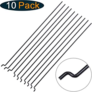 Hobbypark Φ1.2mm x L120mm Steel Z Style Pull / Push Rods Parts for RC Airplane Plane Boat Replacement (Pack of 10)