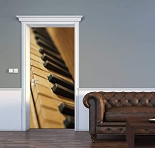 AceChic Door Decal Organ Keyboard Piano Keys 3D Door Sticker