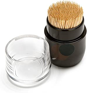MyLifeUNIT Japanese Toothpick Holder Dispenser, Brown Toothpick Dispenser for Kitchen and Home