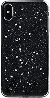iPhone Xs Case TycoonYu Soft Spark Glitter Shine Star TPU Cover Case for iPhone Xs/X 5.8 inch (Black)