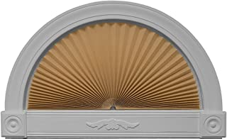 """Redi Shade 3606574 Natural, 72"""" x 36"""" Original Arch Light Filtering Pleated Fabric Shade,"""