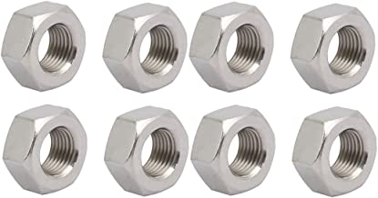 uxcell 8pcs M12 x 1.25mm Pitch Metric Fine Thread 304 Stainless Steel Hex Nuts