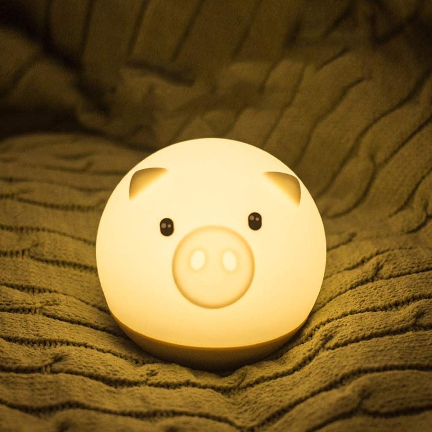 スカイロードブロッキング着陸LEDナイトライト LEDシリコーンナイトライト子供の寝室かわいい漫画充電省エネ目ナイトライト LEDナイトライト