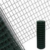 [page_title]-Estexo Gartenzaun 1,0x25 M Maschendraht Gitterzaun Maschung 7,5x5 cm Schweißgitter Zaun