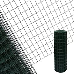 100x100mm, 10m, Verzinkt Garmix Gartenzaun Maschendrahtzaun Gitterzaun