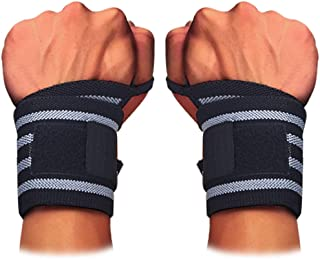 ZODEYI Wrist Wraps with Professional Grade Thumb Loops - 1 Pair of Wrist Wraps for Men & Women - Gym Wrist Straps for Weightlifting,  Boxing,  Powerlifting