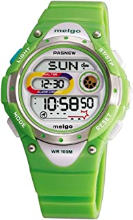 Jewtme LED Waterproof 100m Sports Digital Watch for Children Girls Boys with Three Alarms