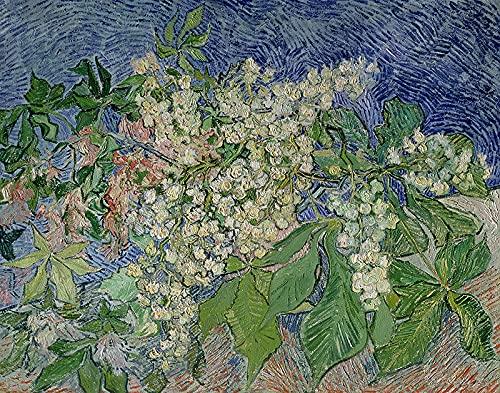 PLKIJ Puzzle Personalizzabili da 1000 pezzi Vincent Van Gogh-Rami di castagno in fiore-Gioco di puzzle per adulti e adolescenti Giocattoli Regalo Decorazione per la casa Giocattoli fai da te per 75x