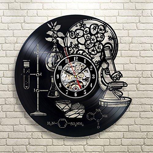 Gullei.com Reloj de pared de vinilo creativo regalo para profesor de química