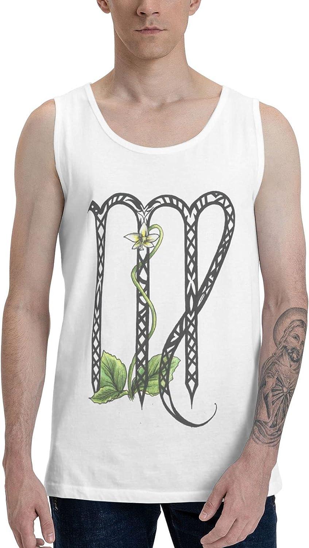 Virgo Zodiac Symbol sign4 Men's Fashion Slim-fit Sleeveless Cotton Vest Sweater