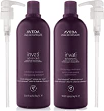 Aveda Invati Advanced Exfoliating Shampoo and Conditioner 33.8 oz Each for Salon Use Duo Set with Pumps