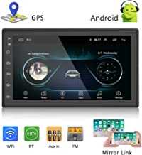 Podofo Car GPS Navigation Stereo – Double Din Android Head Unit with Bluetooth 7..