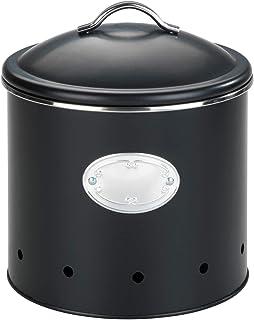 WENKO Boîte de rangement Nero avec trous, 4 litres, perméable à l'air pour une circulation d'air optimale, en métal verni,...