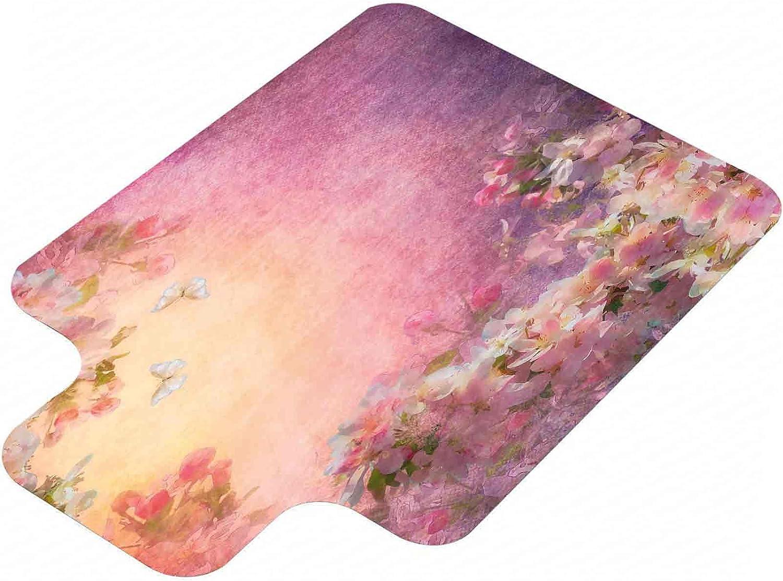 It is very popular Art Computer Chair mat Enchanted Field Petals Virginia Beach Mall Sh Cherry Blossom