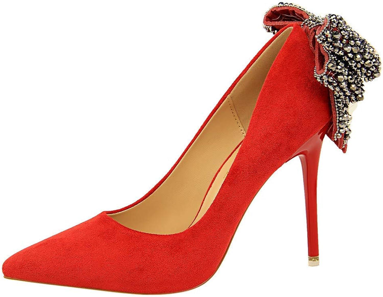 Unyielding1 Womens Classic Kitten Heel Pointed Toe Pumps Closed Pointy Toe Low Kitten Heel