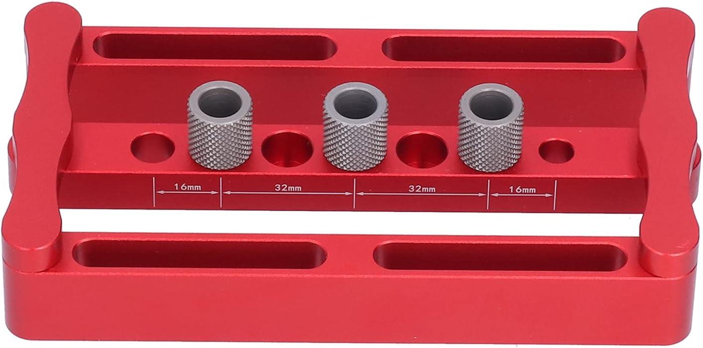 Kit de plantilla de clavijas de centrado, perforador de clavijas de carpintería de operación simple para pisos de puertas de gabinetes, paneles, escritorios, paneles de pared