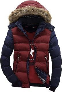 URBANFIND Men's Slim Fit Fashion Contrast Patch Coat Casual Fleece Hooded Jacket