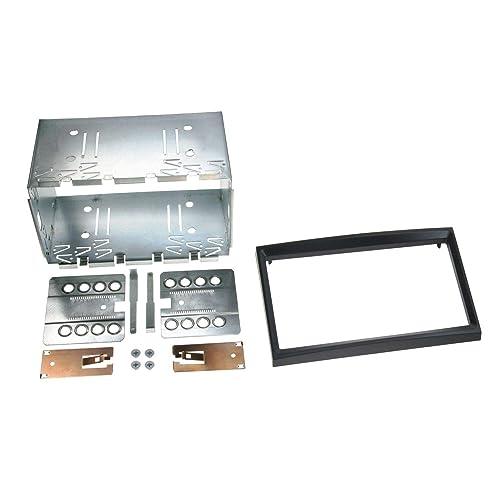 ACV Electronic Façade d'autoradio double DIN pour Peugeot 207 à partir de 2006, 207CC à partir de 2007, 307 à partir de 2001 Noir