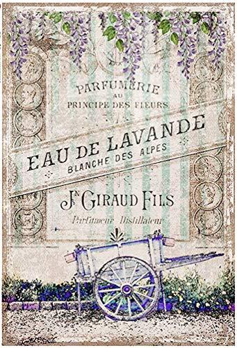 Zita`s Creative Reispapier A4 - Blanche des Alpes. Motiv-Strohseide, Strohseidenpapier, Decoupage Papier