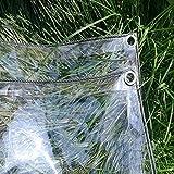 pengfei trasparente telone telo copertura vetro balcone panno antipioggia finestra antivento, con occhielli di metallo facile da installare, taglie multiple (color : clear, size : 1.4mx2m)