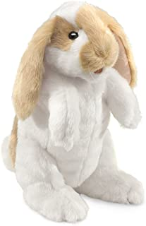 Folkmanis Standing Lop Rabbit Hand Puppet, White, 1 EA