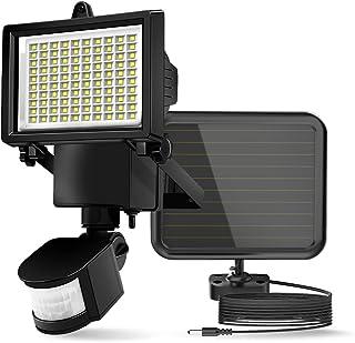 comprar comparacion ERAY Luz Solar Exterior, Lámpara Solar 100 Leds con Sensor de Movimiento, Panel Solar Separado/ 700 Lúmenes/ IP44 Impermea...
