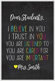 Dear Students Classroom Decor Wall Art Poster