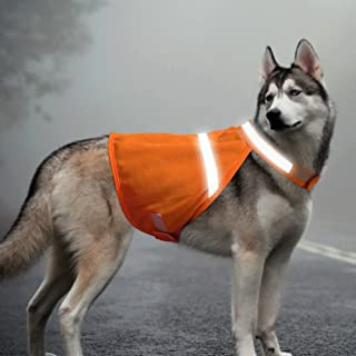 BSEEN Reflective Dog Vest High Visible Dog Jacket with Adjustable Strap & Lightweight Material Protects Your Dog Safe from Cars & Hunting