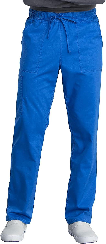 Workwear Revolution Tech Men & Women Scrubs Pant Mid Rise Straight Leg Plus Size WW042ABT, 2XL Tall, Royal