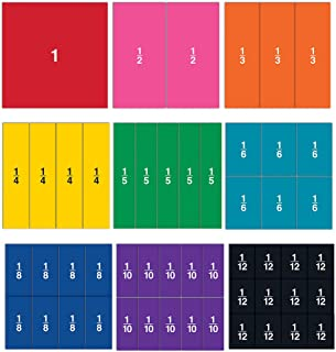 Learning Resources LER1617 Double-Sided Magnetic Demonstration Rainbow Fraction Squares