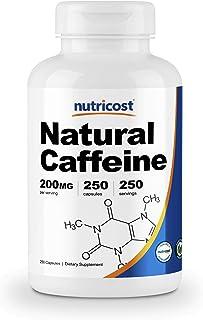 Nutricost Natural Caffeine 200mg, 250 Veggie Capsules - Gluten Free, Non-GMO