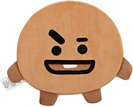BT21 Official Merchandise by Line Friends - SHOOKY Character Face Sitting Cushion Seat Floor Couch Pillow, Beige