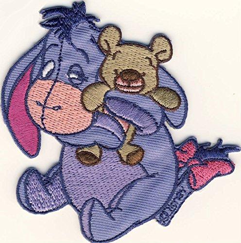MQ Winnie The Pooh - Pu der Bär - I-Aah - Esel Eeyore - Aufnäher Patch Aufbügler Bügelbild