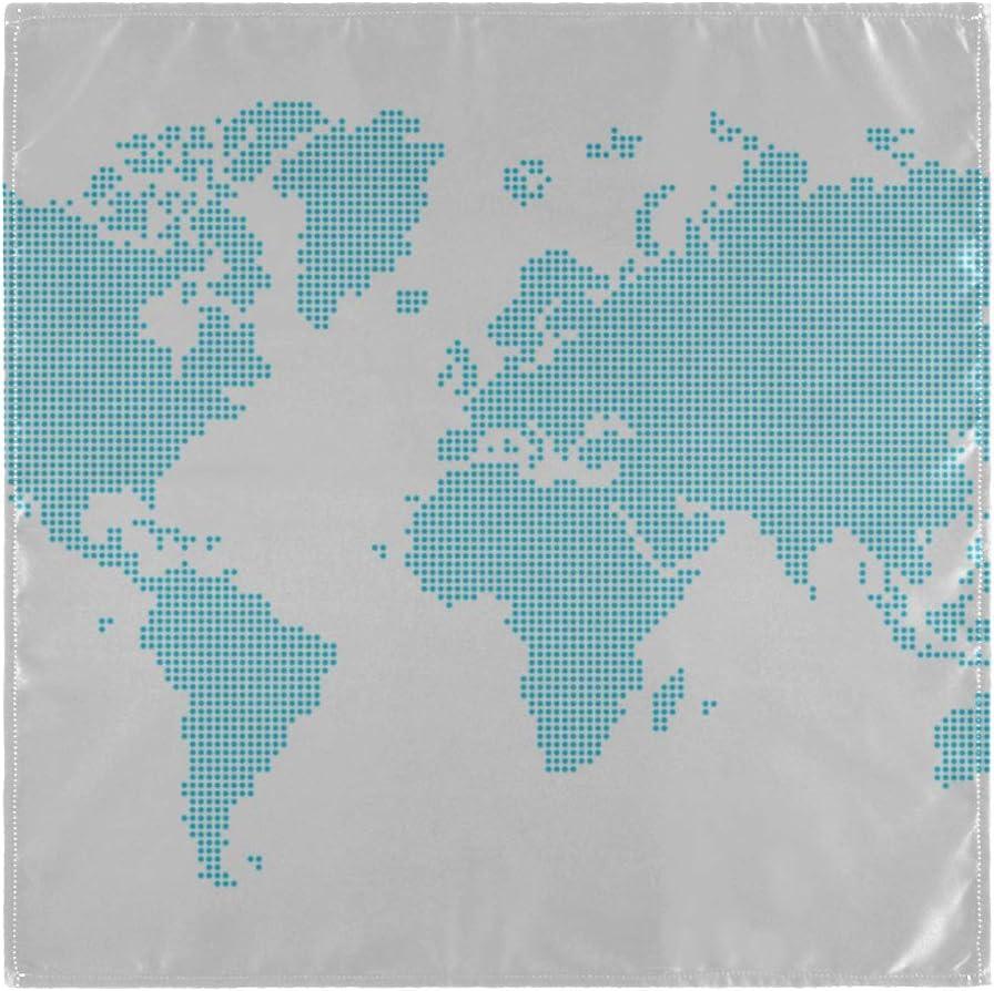 Jnseff Summer Napkins World Map Continent Ocean Camping Cock and ...