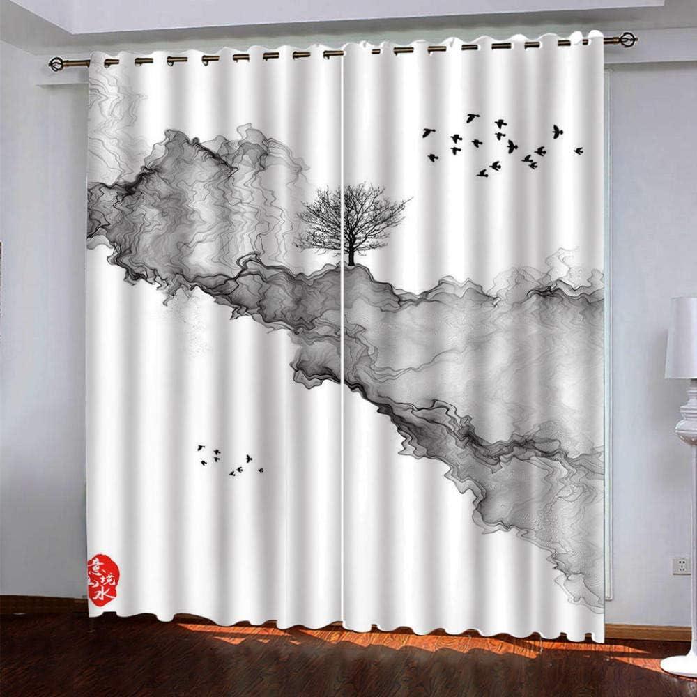 SDSONIU Nursery Curtains 3D Black New sales Cloud Printed Max 81% OFF 100% S Art Super