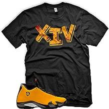 New_XIV_ T Shirt for Jordan 14 XIV Yellow Ferrari Carmelo 13