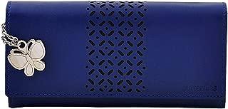 Butterflies Women's Wallet (Blue) (BNS 2386BL)