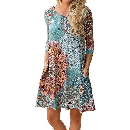 02ecc93b5e Vintage Boho Dress: Amazon.com