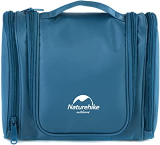 Naturehike Makeup Organizer/Toiletry Bag/Cosmetic Bag/Portable Travel Kit Organizer/Household Storage Pack/Bathroom Storage with Hanging (Sky Blue)