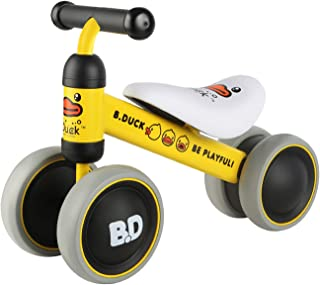 POCO DIVO B.Duck Baby Balance Bike Toddler Walker Children no-Pedal Bicycle Steel Frame Kids 4-Wheel Ride-on Toy - Yellow