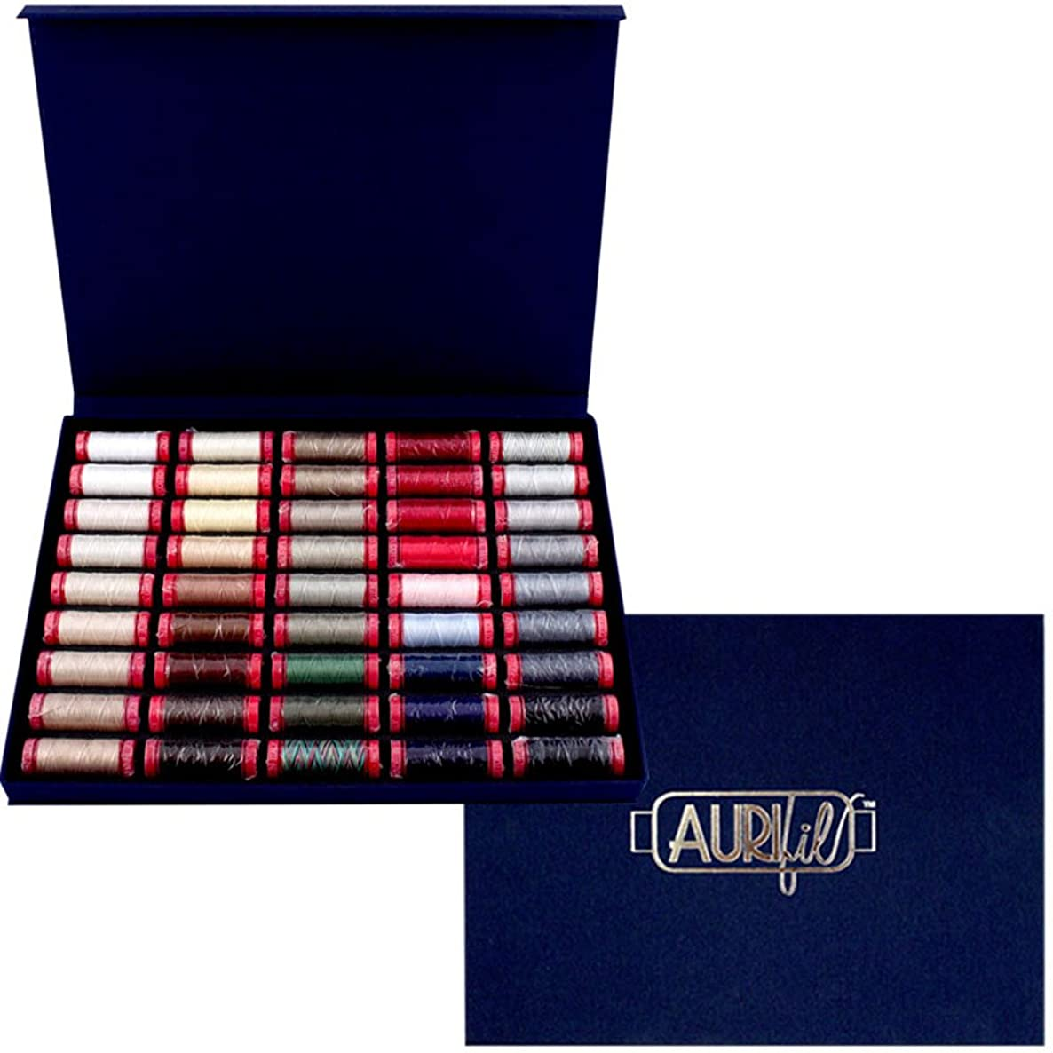 Best Selection Box Aurifil Thread Kit 45 Small Spools 12 Weight ABSC12