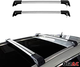 AUDI Q7 ALUMINUM TOP ROOF RACK WING CROSS BARS CROSS RAILS SET