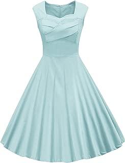 Women's 1950s Retro Vintage Cap Sleeve Cocktail Party Swing Dress