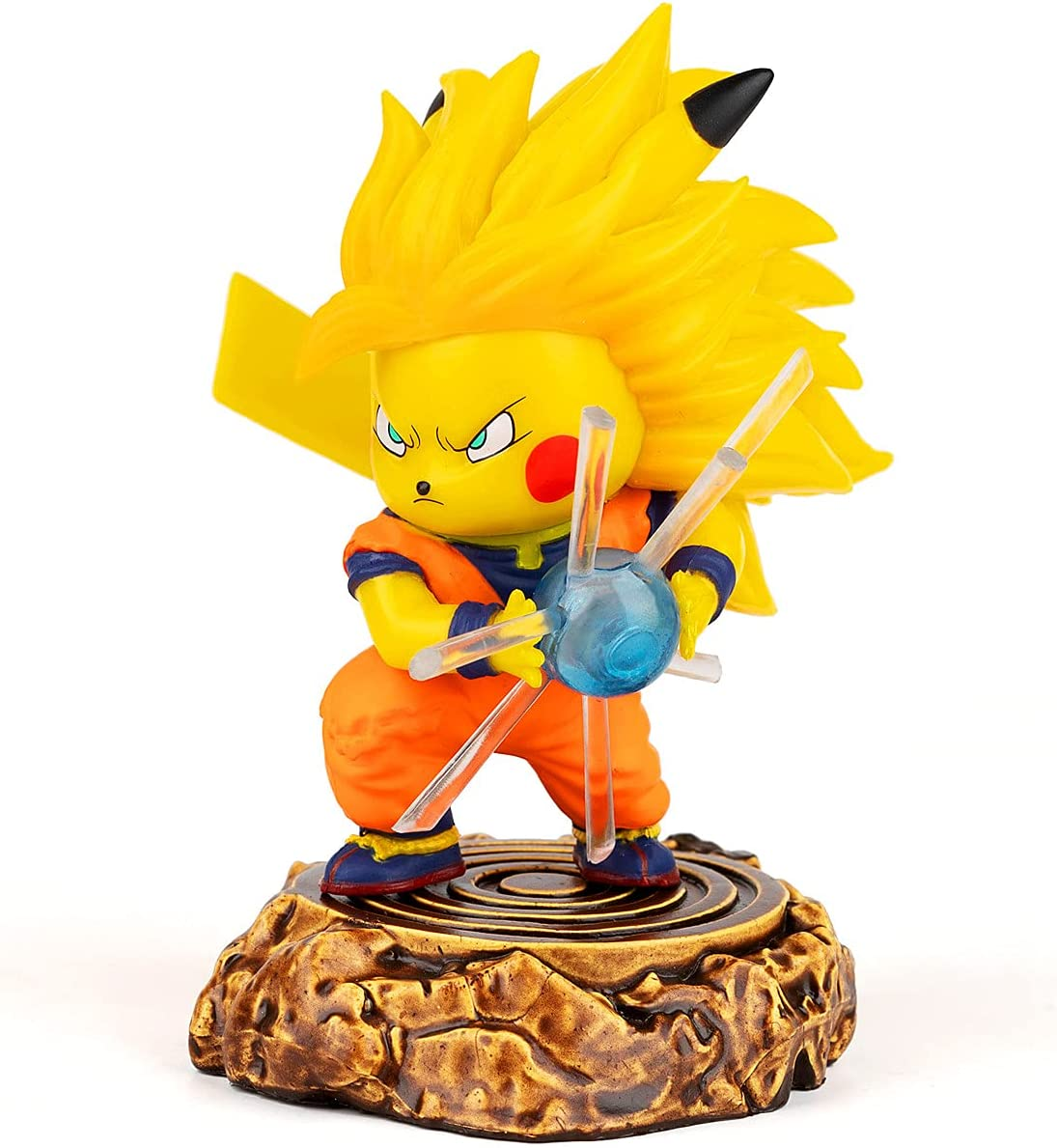 DBZ Action Figure Pikachu Cosplay Goku GK Super Saiyan 3 ssj3...
